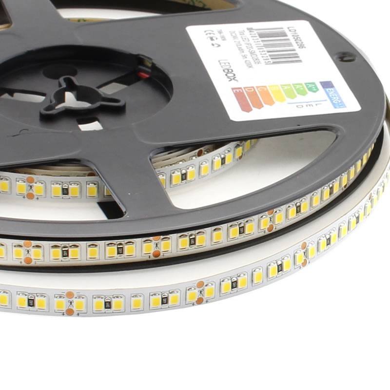 Tira LED SMD2835, ChipLed Samsung, DC24V, 5m (210Led/m), 110W, CRI 95 - IP20, Blanco frío